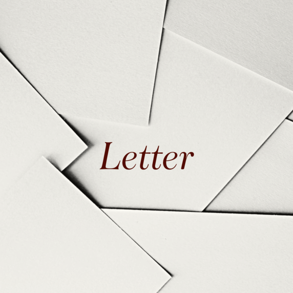 残念なお手紙が届きました・・・