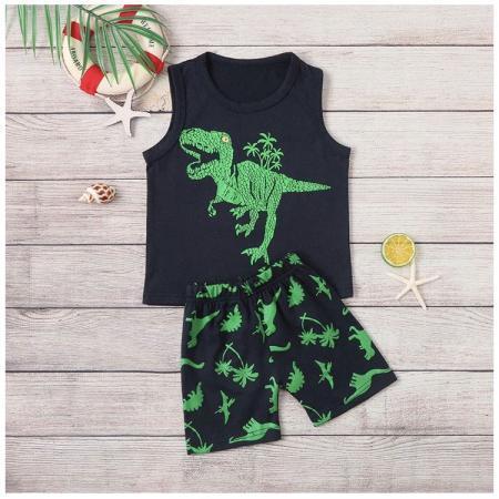ベビー・キッズ恐竜柄Tシャツ上下セット