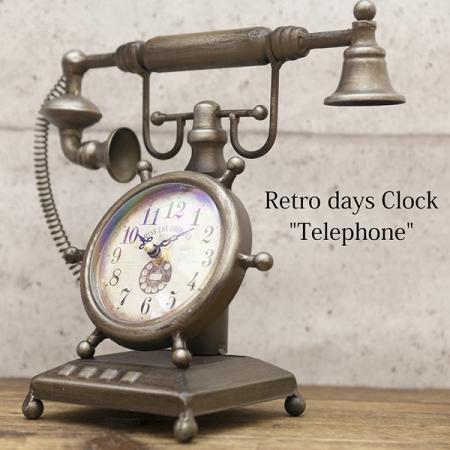 telephone型置時計