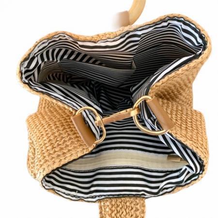編み込みスクエアミニバッグ